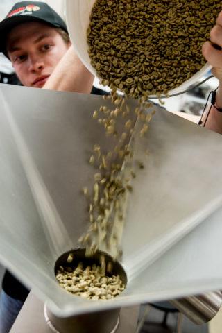 prepping beans